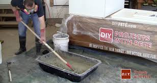 How To Build A Concrete Bar Top How To Make An Outdoor Gas Fireplace With Diy Pete