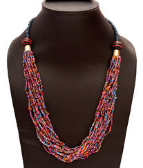 beaded necklace jewelry designs images Vr designers multicolor seed bead necklace buy vr designers JPG