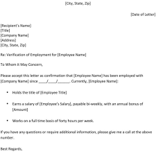 Employment Certification Letter Sample Visa Great Verification Of Employment Letter Template Letter Format