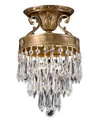 Semi Flush Mount Ceiling Light Crystorama 5270 Regal 7 Inch Wide Semi Flush Mount Capitol