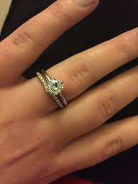 solitaire engagement ring with wedding band wedding rings wedding band that fits around engagement ring neil