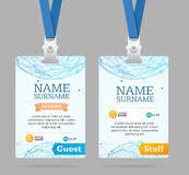 id badge template stock images image 24421384