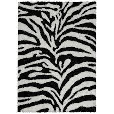 Zebra Print Room Decor by Rugnur Bella Zebra Print Black White Shag Area Rug Reviews Amp