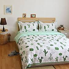Amazon Duvet Sets Amazon Com Lelva Cactus Print Bedding Set Cotton Bedding Duvet