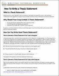 Thesis Sentences College Essays College Application Essays Working Thesis