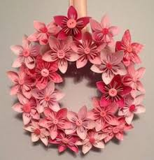 folded paper flower centerpieces kusudama love the colours