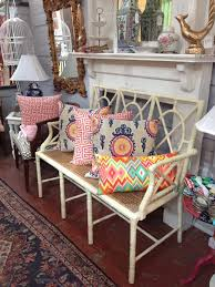 beautiful bamboo bench with cane seat perfect for your entryway