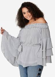 sleeve white blouse plus size tops for sizes 12 36 stewart