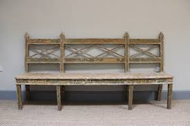 early 19th century swedish painted bench antique seating