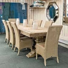 unfinished trestle dining table with table top part like a door