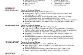 Financial Advisor Resume Examples personal financial advisor resume example finance sample resumes