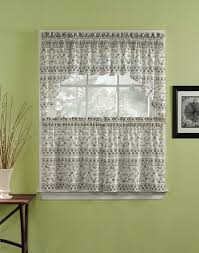vintage grey kitchen cafe curtains with valance attached white enticing
