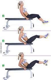 Lift Bench Flat Bench Lying Leg Raise Target Muscles Abdominals Model