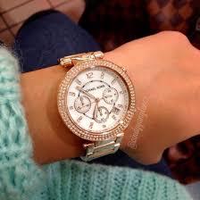 gold tone stainless steel bracelet images Michael kors women 39 s chronograph parker rose gold tone stainless jpg