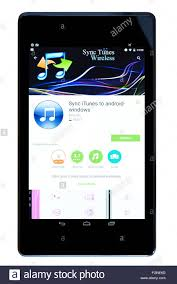 itunes app for android itunes sync app on an android tablet pc dorset uk