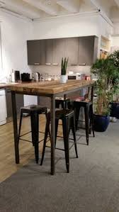 bar height table industrial reclaimed industrial chic 6 8 seater tall poseur table bar cafe