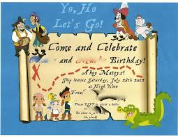 jake and the neverland pirates birthday invites crafts by kimi jo monday july 1 2013 jake and the neverland