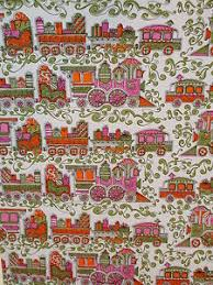 vintage christmas train old store wrapping paper gift wrap 2