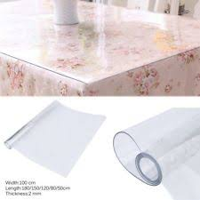 clear vinyl table protector dining table cover ebay