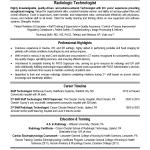 Radiologic Technologist Resume Examples Radiologic Technologist Resume Sample Free Download Vinodomia