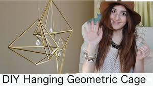 Geometric Hanging Planter by Diy Hanging Geometric Cage Or Hanging Air Plant Holder Youtube