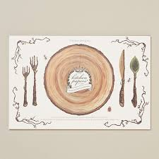 table setting placemat picnic setting paper placemat pad terrain