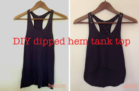 diy dipped hem tank top u2013 by hand london