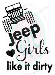 mud truck clip art jeep girls like it dirty svg dxf png climbing jeep cutting files