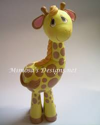 giraffe cake topper cold porcelain giraffe cake topper clay flowers and figurines