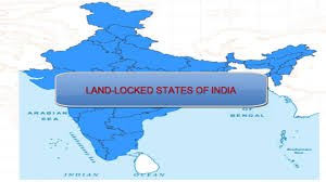 India On Map by Learn 5 Land Locked States Of India Youtube