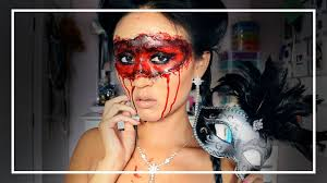 halloween baby face mask bloody masquerade mask halloween makeup tutorial shelingbeauty