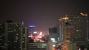 Night Eyes Lights Night City Lights And Traffic In Bangkok As Abstract Background