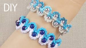bracelet diy macrame images Diy macrame bracelets waves with beads jpg