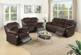 Leather Suede Sofa Kranj Sofa Set Upholstered In Padded Suede And Faux Leather F6695