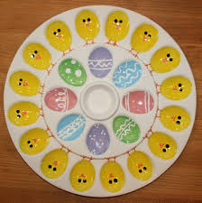 ceramic deviled egg plate deviled egg plate easter eggs large plate
