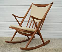 Furniture Wood Rocking Chair Wonderful Love Love Love Danish Modern Rocker Bramin Mobler Frank
