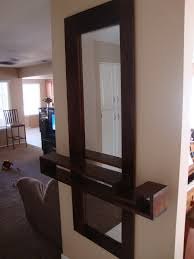Entryway Mirrors Floating Shelves With Mirrors 15 Image Wall Shelves