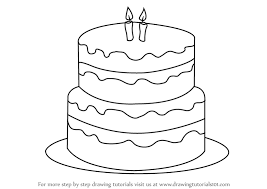 coloring page delightful drawn birthday cake hand 23 2147507042