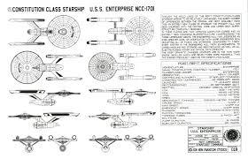 star trek uss enterprise schematics ncc 1701 blueprints oudg