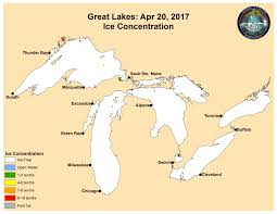 Michigan Weather Map by Lake Huron Weather Cordwood Point Michigan Great Lakes Ice