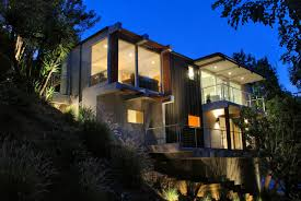 small modern homes small modern hillside house plans decohome
