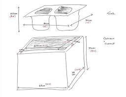 what size base unit for a sink drop in sink and minimum base cabinet width