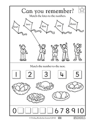 kindergarten preschool math worksheets learning 1 5 part 2