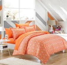 Orange Bed Sets Rise Shine Orange And White Comforter Bedding Sets