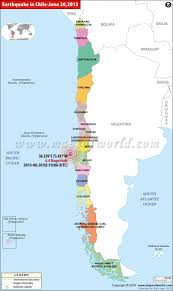 World Map With Longitude And Latitude Lines by Chile Earthquake Map Areas Affected By Earthquakes In Chile