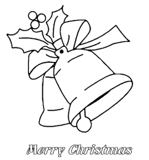bell christmas ornament merry christmas coloring page christmas