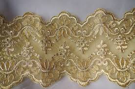 gold lace table runner gold alencon lace trim gold cord table runner lace double edge