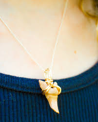 How To Make Jewelry Out Of Wire - easy wire wrapped shark tooth necklace