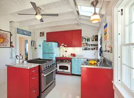Coastal Kitchen Cabinets - red kitchen cabinets interiors by color 5 interior decorating