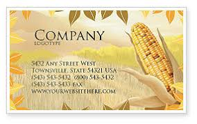 free corn thanksgiving business card template layout